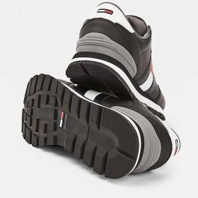 Scarpe Sneakers Tommy Jeans running color block in pelle da uomo rif. EM0EM00577