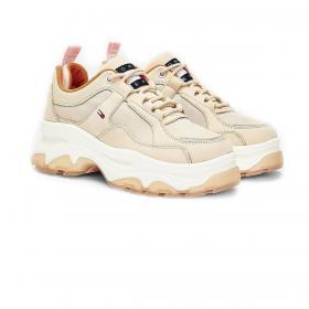 Scarpe Sneakers Tommy Jeans stringate con suola alta da donna rif. EN0EN00931