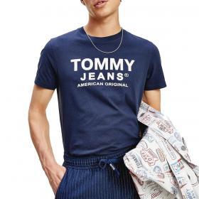 T-shirt Tommy Jeans slim fit in cotone biologico da uomo rif. DM0DM08349