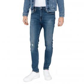 Jeans Calvin Klein Jeans 5 tasche skinny in denim blu da uomo rif. J30J312857
