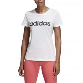 T-shirt Adidas Essentials Linear girocollo con stampa da donna rif. DU0629