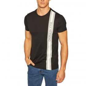 T-shirt Calvin Klein Jeans con nastro con logo verticale da uomo rif. J30J315737