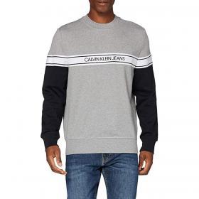 Felpa Calvin Klein Jeans girocollo con nastro con logo da uomo rif. J30J315710