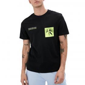 T-shirt Calvin Klein Jeans Globe Back Print girocollo da uomo rif. J30J316045