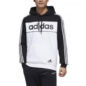 Felpa Adidas Essentials con cappuccio e stampa bicolore da uomo rif. GD5477