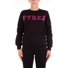 Felpa Pyrex con maxi stampa logo glitterato da donna rif. 20IPB41460