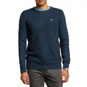 Pullover Tommy Jeans essential in cotone effetto sbiadito da uomo rif. DM0DM08806