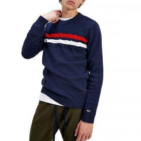 Pullover Maglione Tommy Jeans con logo in rilievo da uomo rif. DM0DM09465