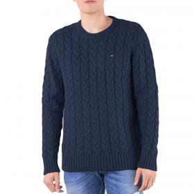 Pullover Tommy Jeans a maglia intrecciata in misto lana da uomo rif. DM0DM05078