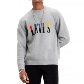 Maglione Levi's Crewneck Serif Sweater con logo serif anni '90 da uomo rif. 73459-0000