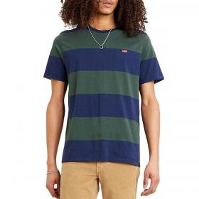 T-shirt Levi's Original Housemark Tee a righe con mini logo da uomo rif. 56605-0058