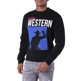 Felpa Dsquared2 Printed sweatshirt con stampa Western da uomo rif. S71GU0254