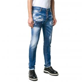 Jeans Dsquared2 Cool Guy Jeans 5 tasche in denim blu da uomo rif. S71LB0604