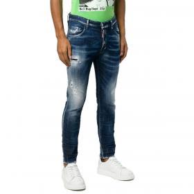 Jeans Dsquared2 slim fit in denim blu 5 tasche da uomo rif. S74LB0501