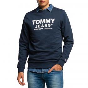 Felpa Tommy Jeans Essentials in cotone biologico con logo da uomo rif. DM0DM08405