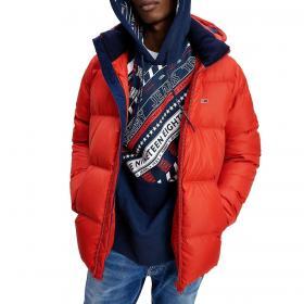 Piumino Tommy Jeans Essential imbottito con cappuccio da uomo rif. DM0DM08762