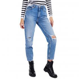 Jeans Guess relaxed fit denim blu con abrasioni da donna rif. W0BA21D3Y0A