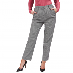Pantaloni Guess Principe di Galles a vita media da donna rif. W0BB78WAOH0
