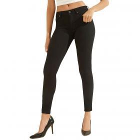Pantaloni Guess in denim skinny fit con strass da donna rif. W0YA99D3OA4