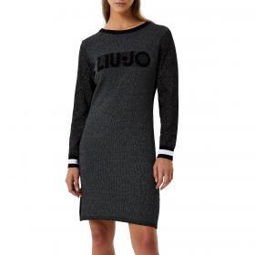 Vestito Liu-Jo in jacquard con logo e interventi in lurex da donna rif. TF0079MA49I