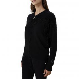 Maglia Liu-Jo con zip e lurex con logo monogram sulla manica da donna rif. TF0073MAG34