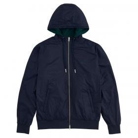 Giubbotto SUN68 Rain Jacket Solid doubleface con cappuccio da uomo rif. R40105