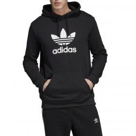 Felpa Adidas Hoodie Trefoil con cappuccio e stampa da uomo rif. DT7964