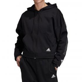 Felpa Adidas Badge of Sport con cappuccio e zip da donna rif. FR5102