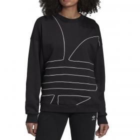 Felpa Adidas Large Logo girocollo con stampa trifoglio da donna rif. GD2415