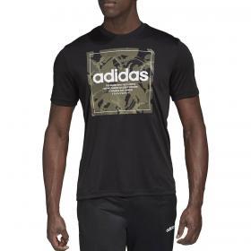 T-shirt Adidas Camouflage Box con maxi stampa sul petto da uomo rif. GD5877