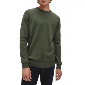Felpa Calvin Klein Jeans girocollo in cotone elasticizzato da uomo rif. J30J315616