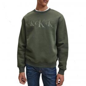 Felpa Calvin Klein Jeans Eco Series in pile di cotone da uomo rif. J30J316520