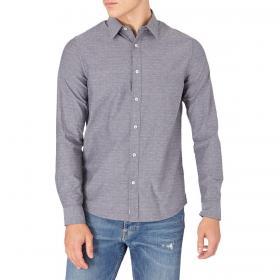 Camicia Calvin Klein Jeans Dobby slim a fantasia in cotone da uomo rif. J30J316638