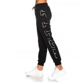 Pantaloni Pyrex in tuta con maxi logo laterale da donna rif. 20IPB41348