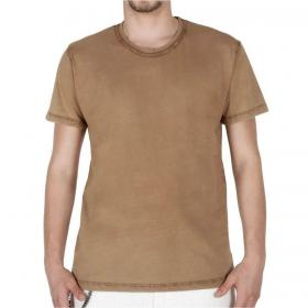T-shirt Over-d girocollo in tinta unita da uomo rif. OM502TS
