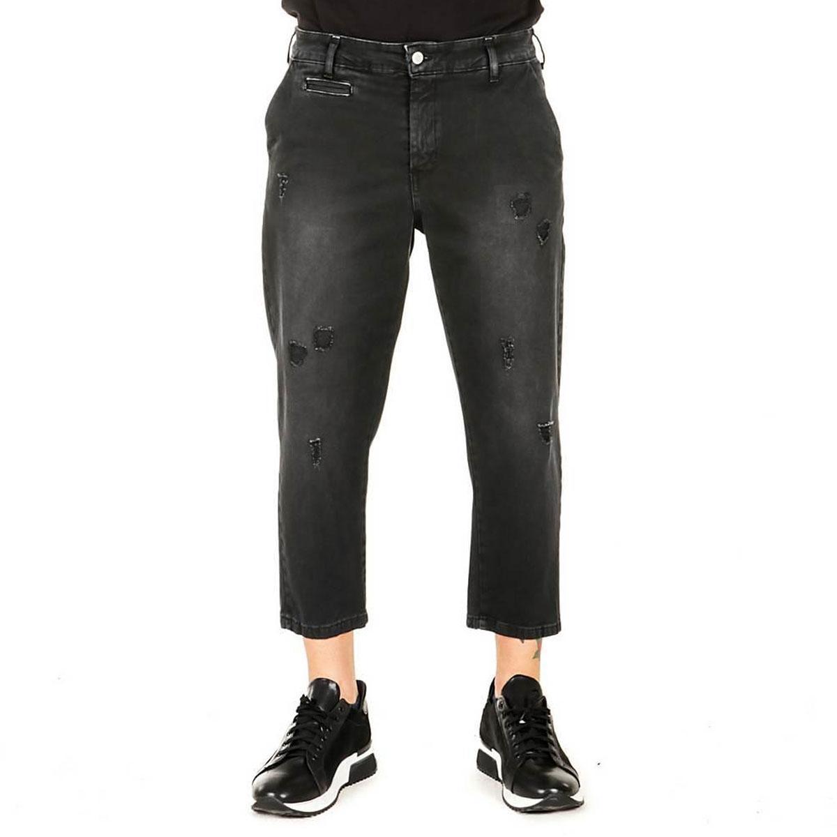 Pantaloni Over-d con strappi sulle gambe capri fit da uomo rif. OM529PN