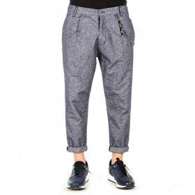 Pantaloni Over-d effetto jeans cavallo basso con pinces da uomo rif. OM577PN