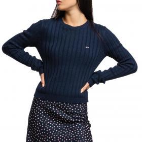 Pullover Maglioncino Tommy Jeans girocollo con mini logo da donna rif. DW0DW09082