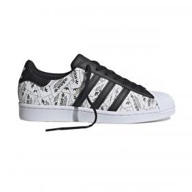 Scarpe Sneakers Adidas Superstar con stampa riflettente unisex rif. FV2819
