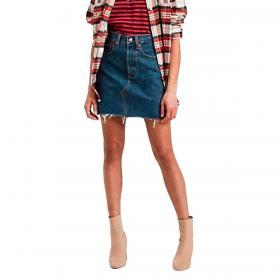 Gonna Levi's Deconstructed Iconic Boyfriend Skirt in denim jeans da donna rif. 77882-0009