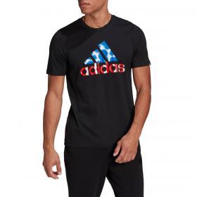 T-shirt Adidas con stampa grafica sul petto da uomo rif. GL3255