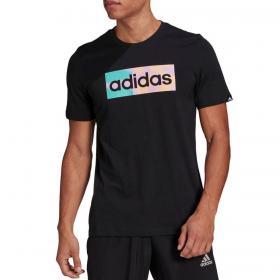 T-shirt Adidas con stampa grafica sul petto da uomo rif. GL3266