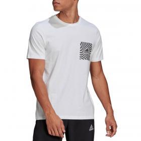 T-shirt Adidas Race Flag con stampa grafica da uomo rif. GL3695