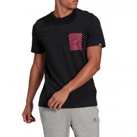 T-shirt Adidas Race Flag con stampa grafica da uomo rif. GL3698