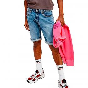 Pantaloncini Shorts Tommy Jeans Ronnie relaxed fit in denim da uomo rif. DM0DM10554