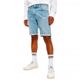 Pantaloncini Shorts Tommy Jeans relaxed fit in denim da uomo rif. DM0DM10555