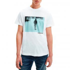 T-shirt Calvin Klein Jeans con stampa fotografica in cotone biologico da uomo rif. J30J317465