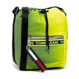 Borsa Tommy Jeans a secchiello con logo ripetuto da donna rif. AW0AW10016