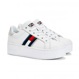 Scarpe Sneakers Tommy Jeans cangianti con suola alta da donna rif. EN0EN01353