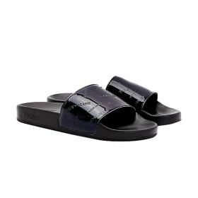 Ciabatte sandali Tommy Jeans verniciati con loghi in rilievo da donna rif. EN0EN01379
